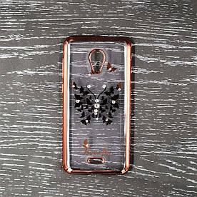 Чехол накладка для Meizu C9 силиконовый Beckberg Breathe seria, Бабочки