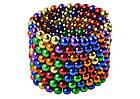Магнитные шарики Неокуб Neocube Радуга 216 шариков диаметром 5мм в боксе, фото 5