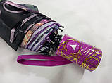 Зонт женский атласный  на 9 спиц антиветер с рисунком, фото 3