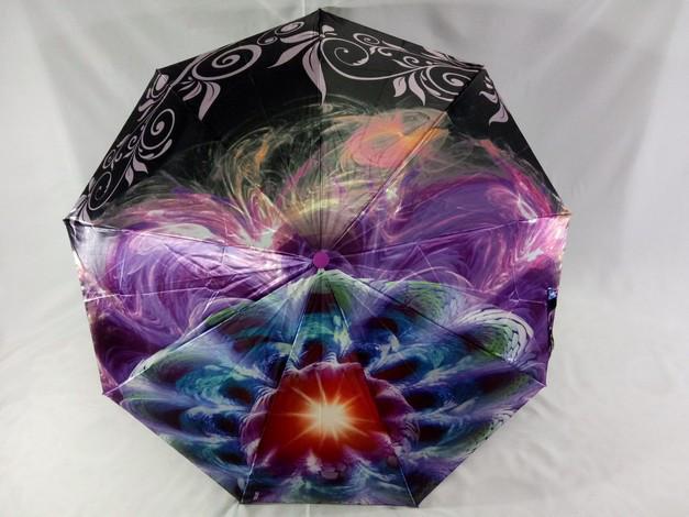Зонт женский атласный  на 9 спиц антиветер с рисунком