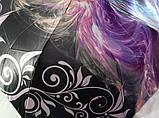 Зонт женский атласный  на 9 спиц антиветер с рисунком, фото 4