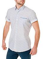 Мужская рубашка с коротким рукавом стильная с узором Pierre Cardin оригинал