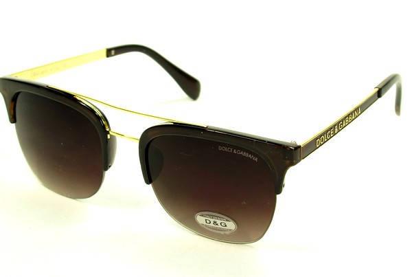Солнцезащитные очки стильные  оправа, пластик (реплика женские ) коричневый ( H7008 C2 ), фото 2