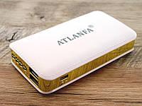 Power bank 7200mAh ATLANFA AT-D2015 повербанк универсальная батарея с LED фонариком, gold