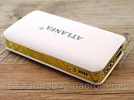 Power bank 7200mAh ATLANFA AT-D2015 повербанк универсальная батарея с LED фонариком, gold, фото 3