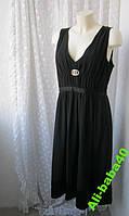 Платье женское р.50 черное летнее вечернее элегантное бренд H&M