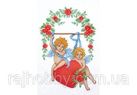 Повітруля Набор для вышивки крестом Влюбленные амуры Закохані амури