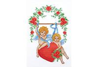 Повітруля Набор для вышивки крестом Влюбленные амуры Закохані амури П2002