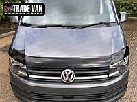 Мухобойка, дефлектор капота Volkswagen Transporter T-6 2015-> (HIC), фото 1