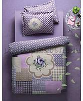 Плед-покрывало Karaca Rosemary фиолетовое 160х220 cм