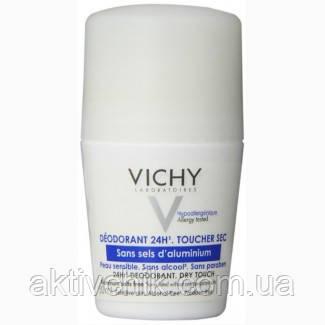 Vichy Виши Дезодорант шариковый для чувствительной кожи без солей алюминия Dry Touch 24H