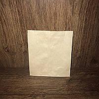 Бумажный пакет 230х220х60 бурый крафт, 100шт/уп