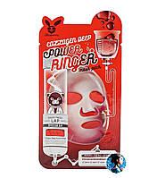 ELIZAVECCA Collagen Deep Power Mask Pack Омолаживающая тканевая маска для лица с коллагеном