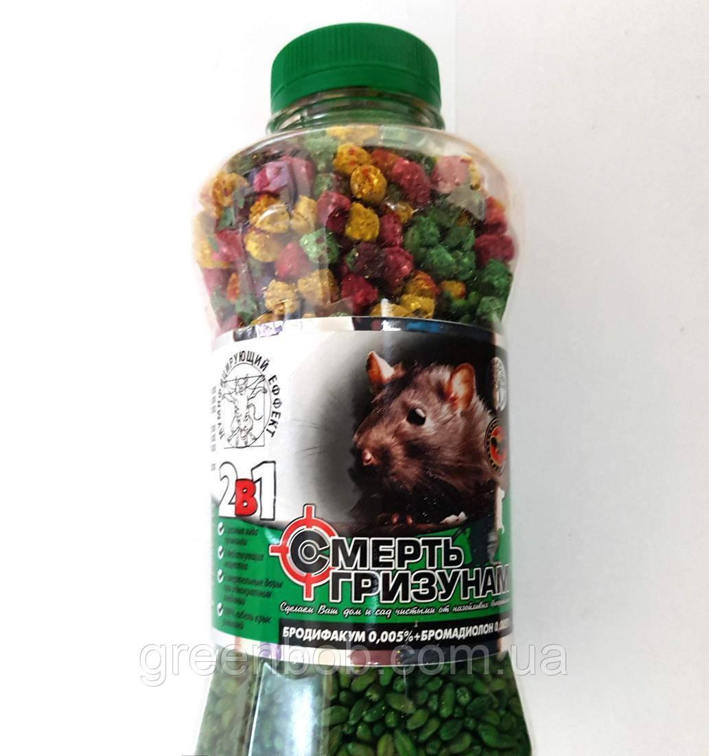 Смерть грызунам 2в1 (зерно зеленое + гранула микс) 400г