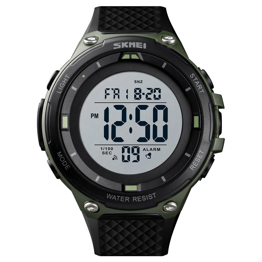 Skmei 1441 зеленые мужские спортивные часы