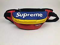 Бананка Supreme logo | Сумка синие-красно-желтая | бирка , фото 1
