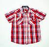 Стильная рубашка, шведка  для мальчика рост 116-122 cм