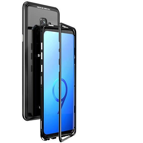 Магнитный чехол для Samsung Galaxy S9 бампер накладка Case Magnetic Frame черный