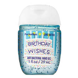Bath&Body Works Anti-bacterial Hand Gel - Гель для рук антибактериальный - BIRTHDAY WISHES, 29 мл