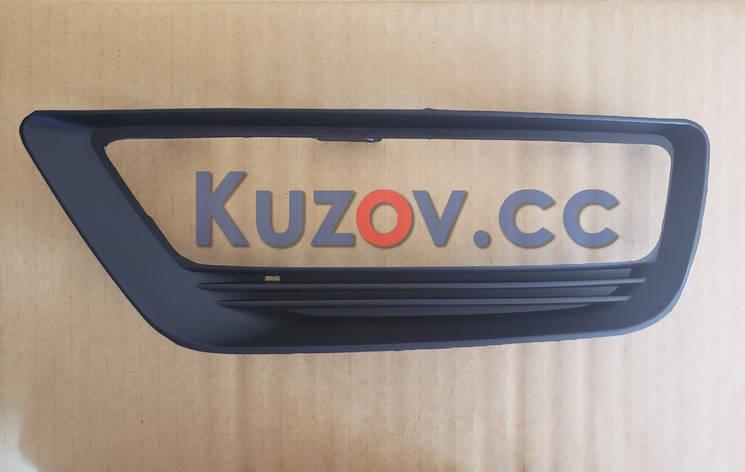 Решетка в бампере правая Honda Accord 9 (13-15) под ПТФ, EUR, USA (FPS) 71102T2AA10, фото 2