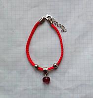 Красная нить - браслет натуральный природный рубин 10*6 мм