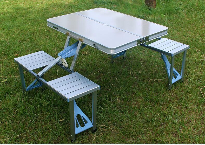 Стол для пикникаалюминиевый складной (раскладной чемодан)