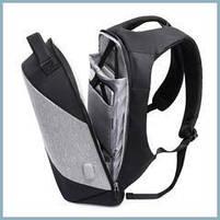 Рюкзак антивор для ноутбука 15,6 KAKA 2248 чёрно-серый, фото 3