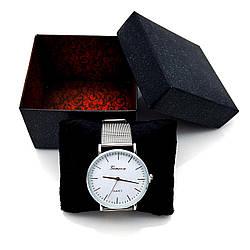 Подарочная Коробка для часов с подушечкой, Черная с красным узором