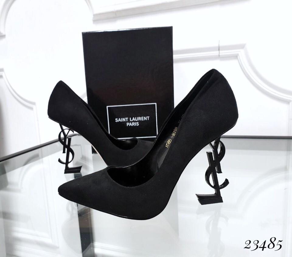 Туфли лодочки Opium черные каблук бренд