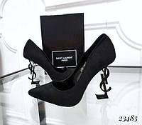 Туфли лодочки Opium черные каблук бренд, фото 1