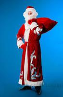 Костюм Деда Мороза велюр KD92 Украина карнавальная  44-52