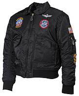 Детская куртка USA пилот, черная