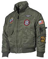 Детская куртка USA пилот, олива