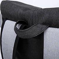 Рюкзак-торба молодёжный для города КАКА 2238 чёрный, фото 5