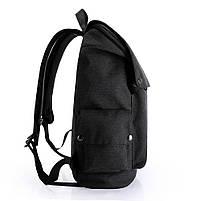 Рюкзак-торба молодёжный для города КАКА 2238 чёрный, фото 3