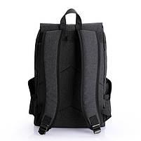Рюкзак-торба молодёжный для города КАКА 2238 чёрный, фото 4