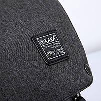 Рюкзак-торба молодёжный для города КАКА 2238 чёрный, фото 6