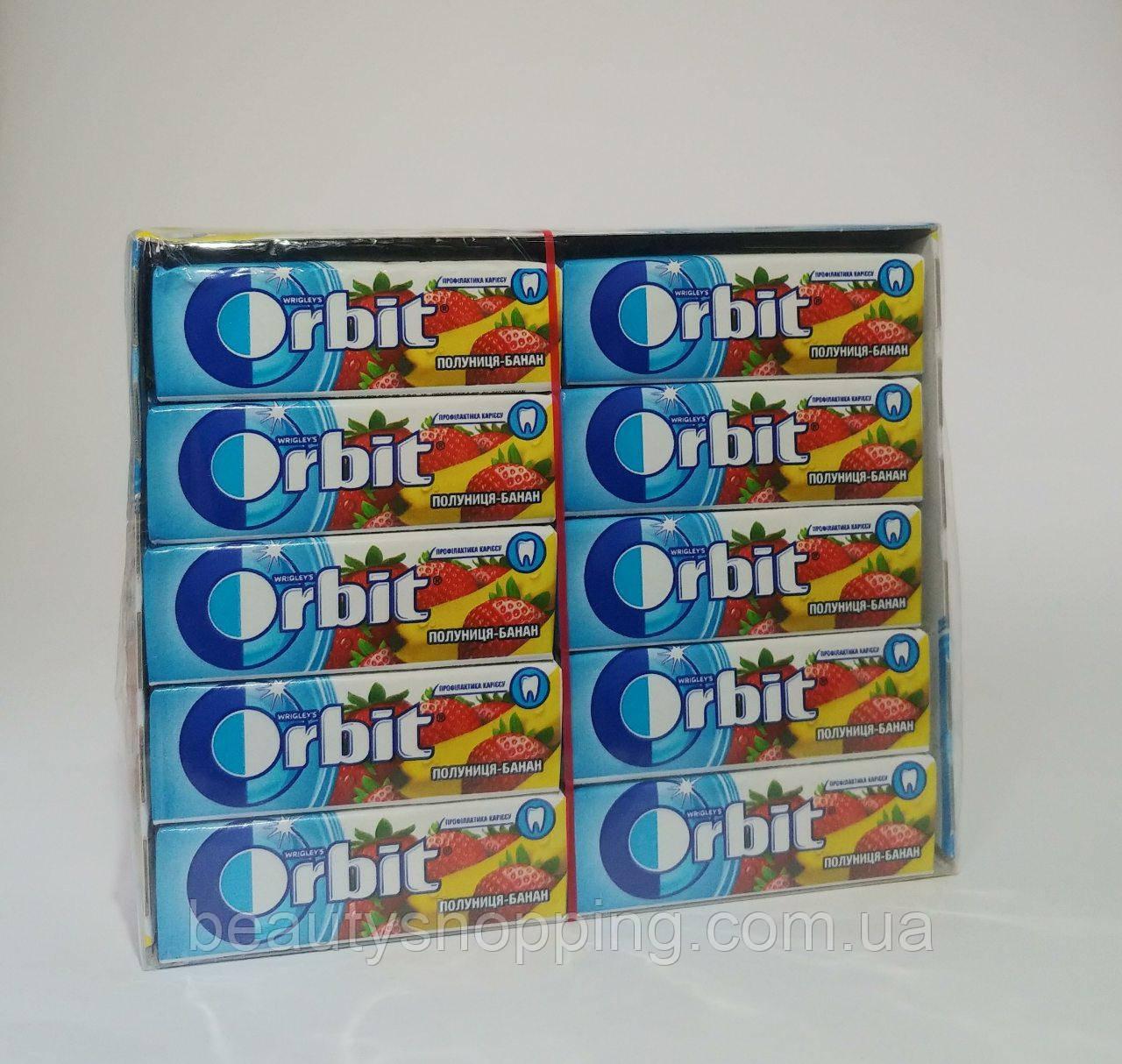 Orbit жувальні гумки зі смаком полуниці банана 30 штук упаковка