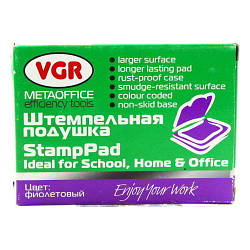 Штемпельная подушка, фиолетовая, VGR PS0316