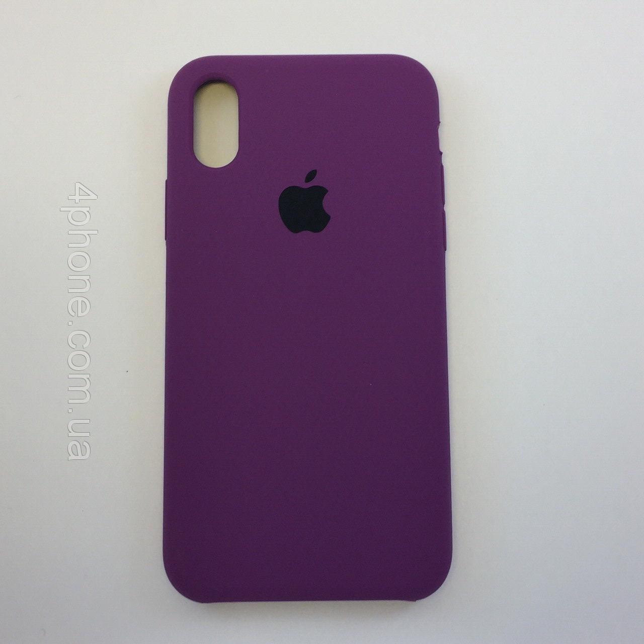 "Чехол - Silicon Case для iPhone ""Пурпурный- №45"" - copy orig."