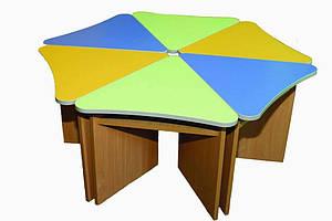 Комплект детских игровых столов Лепесток. W1