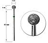 Насадка для фрезера с алмазным напылением - шарик 5мм/4мм, фото 2