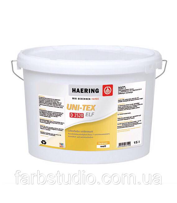 Краска шелковисто-матовая Haering Uni-Tex elf D 2520 2,5 литра, база 1, белая тонируемая интерьерная