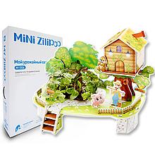 Живой 3D Пазл MINI Zilipoo Мой урожайный сад (M-006)