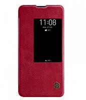 Кожаный чехол-книжка Nillkin Qin Series для Huawei Mate 20 X Красный (681439)
