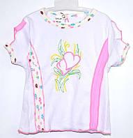 """Гр БЛ-11 """"2"""" /р.104/ /розовый/ Футболка для девочки с вышивкой"""