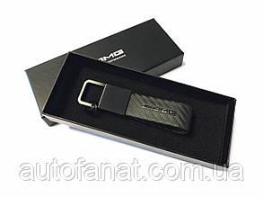 Оригинальный брелок Mercedes-Benz Key Ring, AMG, Carbon Fibre, Black, Carbon Leather (B66953428)