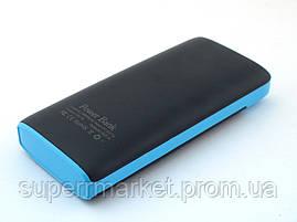 Power bank 29800mAh UKC повербанк универсальная батарея с LED фонариком, черная с синим, фото 3