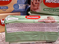 Влажные салфетки Huggies Natural Care (4*56) 224шт, фото 1
