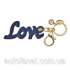Оригинальный брелок Mercedes Love Key ring, Blue / Red (B66953619)